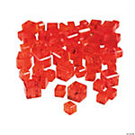 Ruby Cube Cut Crystal Beads - 4mm-6mm