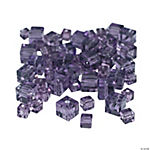 Amethyst Cube Cut Crystal Beads - 4mm-6mm