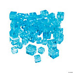 Aquamarine Cube Cut Crystal Beads - 4mm-6mm