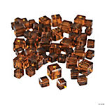 Chocolate Brown Cube Cut Crystal Beads - 4mm-6mm