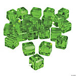 Emerald Cube Cut Crystal Beads - 8mm