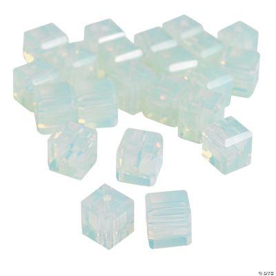 Moonstone Cube Cut Crystal Beads - 8mm