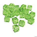 Peridot Cube Cut Crystal Beads - 8mm