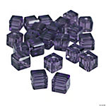 Amethyst Cube Cut Crystal Beads - 8mm