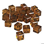 Chocolate Brown Cube Cut Crystal Beads - 8mm
