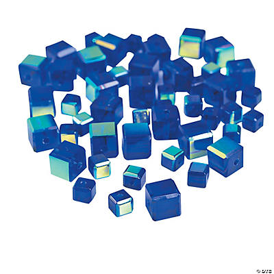 Sapphire Cube AB Cut Crystal Beads - 4mm-6mm