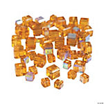 Topaz Cube AB Cut Crystal Beads - 4mm-6mm