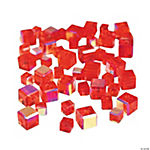Ruby Cube AB Cut Crystal Beads - 4mm-6mm