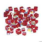 Garnet Cube AB Cut Crystal Beads - 4mm-6mm