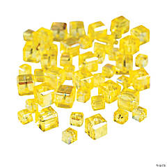Canary Yellow Cube AB Cut Crystal Beads - 4mm-6mm