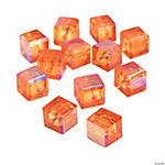 Orange Sunset Cube AB Cut Crystal Beads - 8mm
