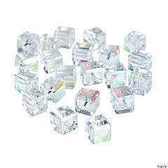Clear Cube AB Cut Crystal Beads - 8mm