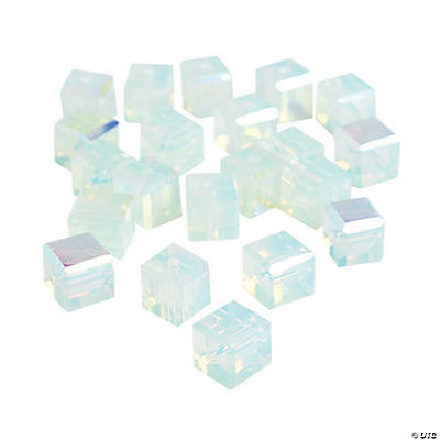 Moonstone Cube AB Cut Crystal Beads - 8mm