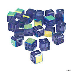 Amethyst Cube AB Cut Crystal Beads - 8mm