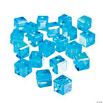 Aquamarine Cube AB Cut Crystal Beads - 8mm