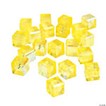 Canary Yellow Cube AB Cut Crystal Beads - 8mm