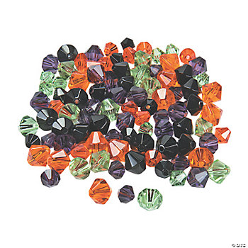 Halloween Crystal Bicone Bead Assortment - 6mm-8mm