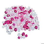 Pink Ribbon Crystal Bicone Bead Assortment - 6mm-9mm