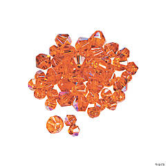 Sunset Orange Aurora Borealis Cut Crystal Bicone Beads - 4mm-6mm