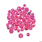 Fuchsia AB Crystal Round Beads - 4mm-6mm