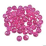 Fuchsia Crystal Round Beads - 8mm