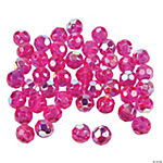 Fuchsia AB Crystal Round Beads - 8mm