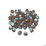 Smokey Quartz Aurora Borealis Bicone Crystal Beads - 8mm