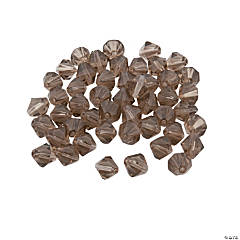 Smokey Quartz Bicone Crystal Beads - 8mm