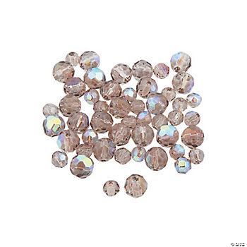 Smokey Quartz AB Round Crystal Beads - 4mm-6mm