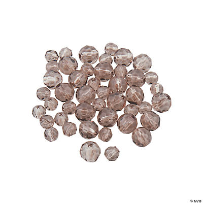 Smokey Quartz Round Crystal Beads - 4mm & 6mm