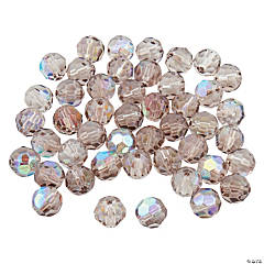 Smokey Quartz AB Round Crystal Beads - 8mm