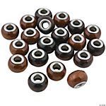 Wood Large Hole Beads - 14mm