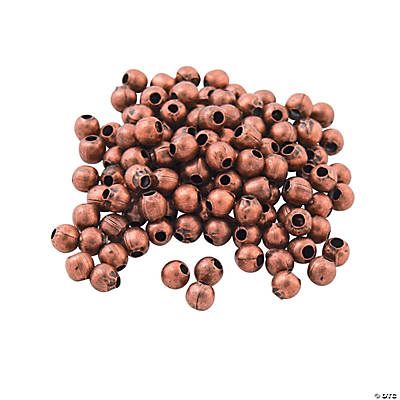 Copper-Tone Round Beads - 2mm