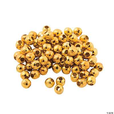 Goldtone Round Beads - 2mm