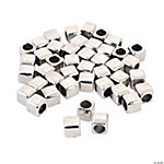 Square Spacer Large Hole Beads - 6mm