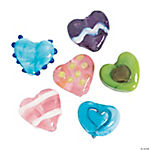 Bright Funky Heart Lampwork Beads - 15mm