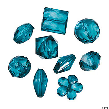 Teal Bead Assortment - 12mm - 15mm