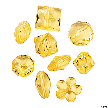 Yellow Bead Assortment - 12mm - 15mm
