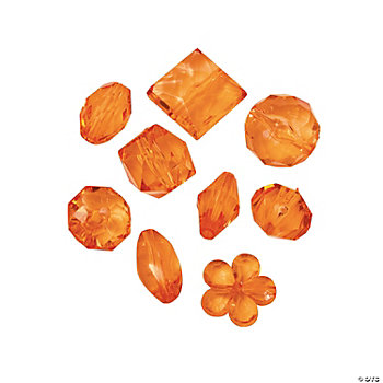 Orange Bead Assortment - 12mm - 15mm