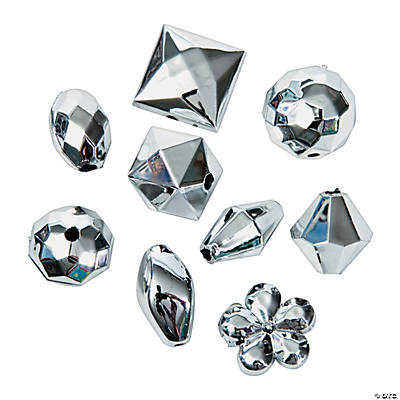 Silvertone Bead Assortment - 12mm - 15mm