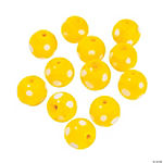Yellow Polka Dot Lampwork Beads - 10mm