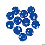 Blue Polka Dot Lampwork Beads - 10mm