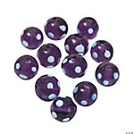 Purple Polka Dot Lampwork Beads - 10mm