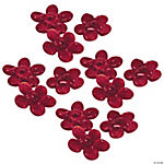 Red Flower Lampwork Beads - 16mm
