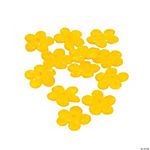 Yellow Flower Lampwork Beads - 16mm