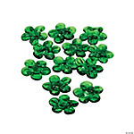 Green Flower Lampwork Beads - 16mm