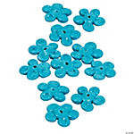 Teal Flower Lampwork Beads - 16mm