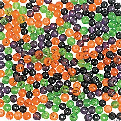 Halloween Colored Mini Round Beads - 4mm