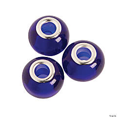 Sapphire Large Hole Beads - 14mm