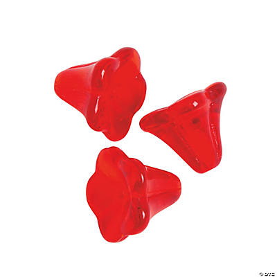 Red Angel Skirt Beads - 11mm x 13mm